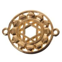 Armbandverbinder Herzchakra, 25 x 20 mm, vergoldet