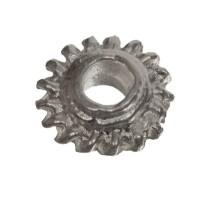 Metallperle Spacer Scheibe, Durchmesser ca. 7 mm, versilbert