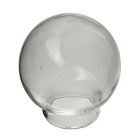 Glaskugel, rund 25 mm, Öffnung 15 mm,  transparent