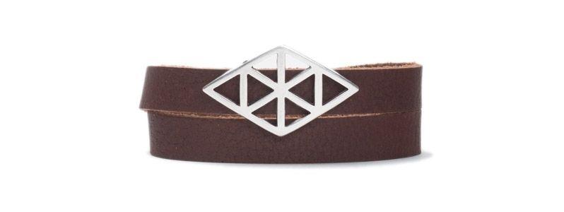 Armband mit Schiebeperlen Geometrisch