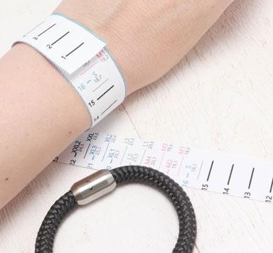 Segeltauarmbänder - Wie bestimme ich meine Armbandgröße?
