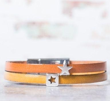 Minislider & 5 mm Lederband