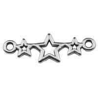 Armbandverbinder 3 Sterne, 19 x 9 mm, versilbert