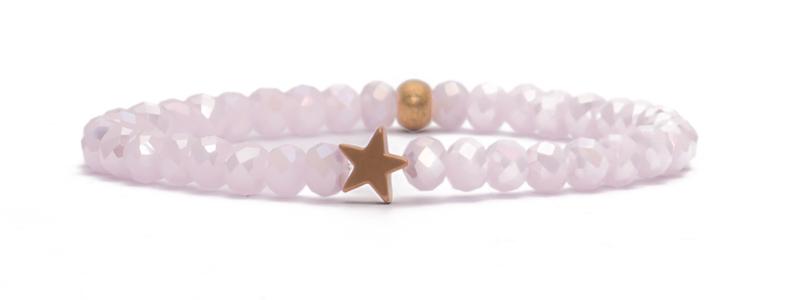 Armband mit rosevergoldeten Perlen Stern