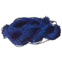 Makramee- und Schmuckband, Durchmesser 1 mm, 22 Meter-Paket, dunkelblau