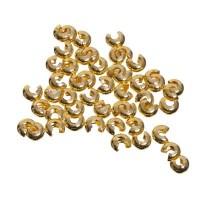 Kaschierperlen, 4 mm, goldfarben, 50 Stück