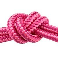 Segelseil, Durchmesser 10 mm, Länge 1 m, Pink-Mix