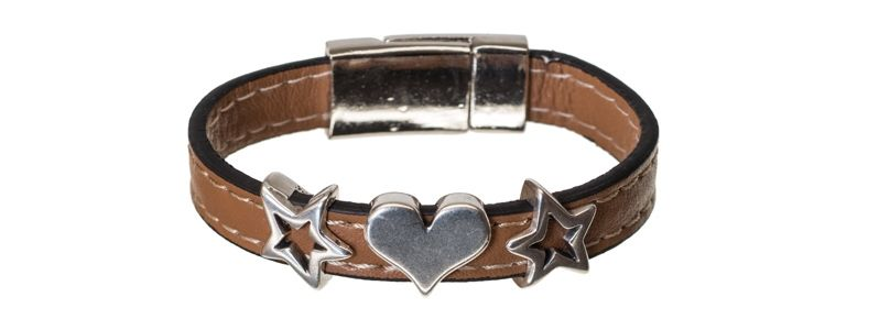 Lederlook Armband Love