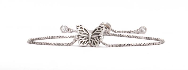 """Armband mit Schiebeverschluss """"Schmetterling"""""""