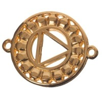 Armbandverbinder Nabel-/Solarplexuschakra, 24 x 20 mm, vergoldet