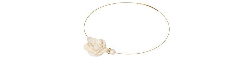 """Collier """"Weiße Rose"""""""
