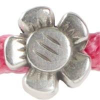 Metallperle Blume für 5 mm Segelseil, 12 x 12 mm, versilbert