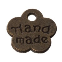 CM Metallanhänger Handmade, 8 x 8 mm, bronzefarben