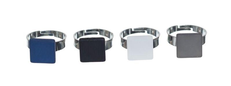 Viereckige Polaris Ringe Zwei