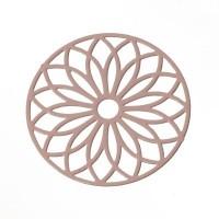 Metallanhänger Boho Rund filigran, 24 x 24 mm, rosa