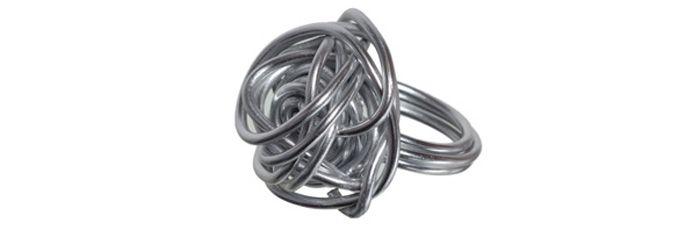 Knäul-Ring Silber