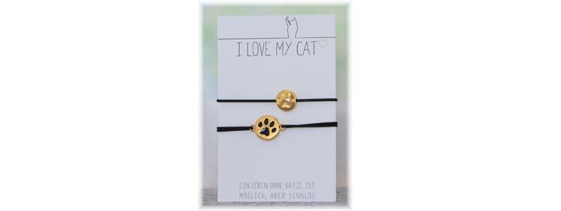 Schmuck für Tierfreunde - Elastische Katzenarmbänder