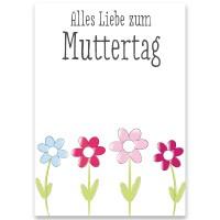"""Schmuckkarte, """"Alles Liebe zum Muttertag"""", rechteckig, Größe 8,5 x 12 cm"""