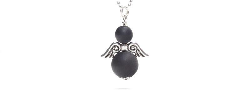 Perlenengel Schwarz