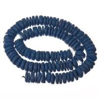 Kokosnussperlen, Scheibe, 10 x 3 mm, blau, Strang