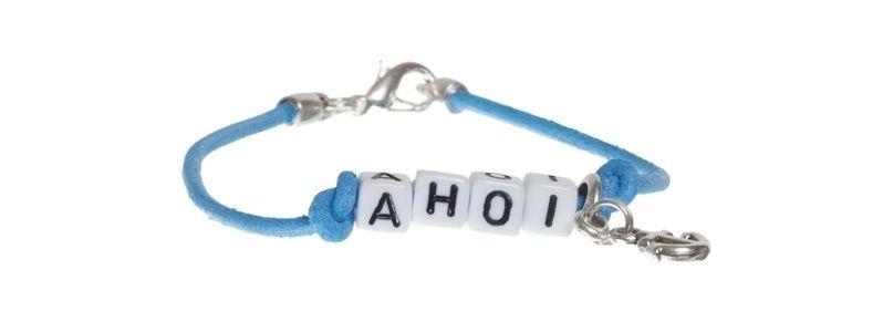 Buchstabenarmband Ahoi