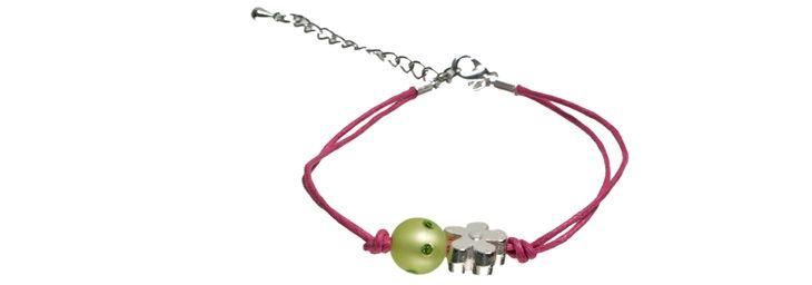 "Armband ""Glitzer-Blume"""