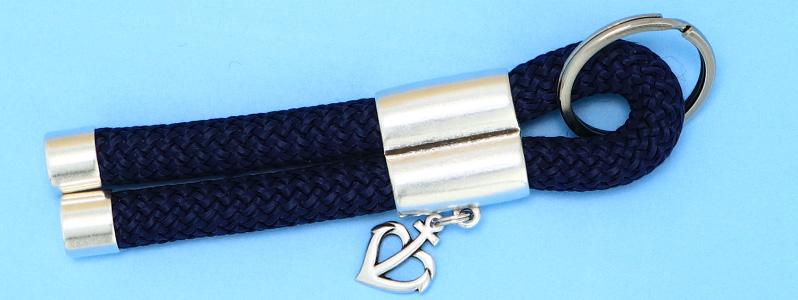 Maritimer Schlüsselanhänger mit Tau und Ankeranhänger