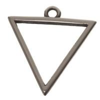 Metallanhänger Dreieck, 18 x 17 mm, versilbert