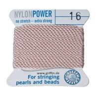 Perlseide, Nylon Power, 1,05 mm, hellrosa, 2 m