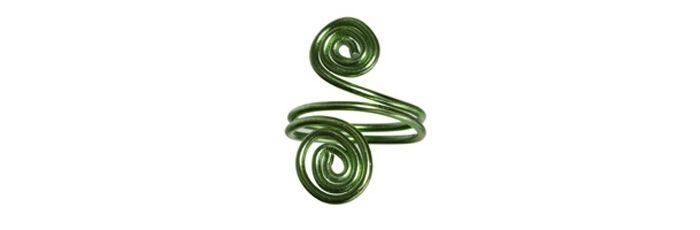 Schnecken-Ring Grün