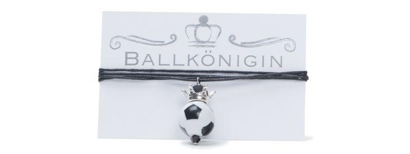 Königin Fußball Kette mit Baumwollband