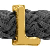Grip-It Slider Buchstabe L, für Bänder bis 5mm Durchmesser, vergoldet