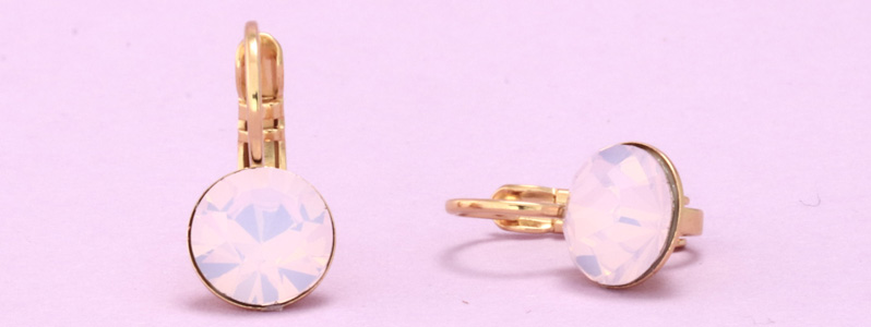 Ohrhänger mit Preciosa Chatons Rose Opal