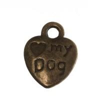 """Metallanhänger """"Love My Dog"""", 13 x 10 mm, bronzefarben"""
