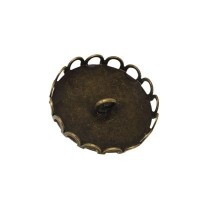 Deckel für Glaskugel, Öse beidseitig, Durchmesser 20 mm, bronzefarben