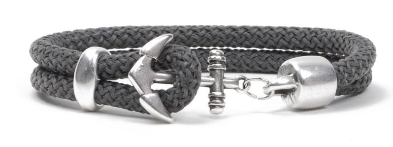 Segelseil-Ankerarmband Grau