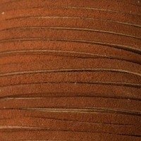 Velourlederband, 2 x 3,2 mm, Länge 1 m, mittelbraun