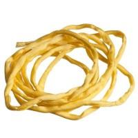 Habotai-Seidenband, Durchmesser 3 mm, Länge 110 cm, gelb