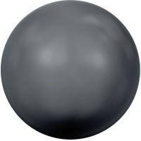 Swarovski Crystal Pearl, rund, 12 mm, black