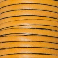 Breites Lederband, 5 mm x 1 mm, Länge 1 m, gelb