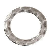 Metallelement, rund, 38 mm, versilbert