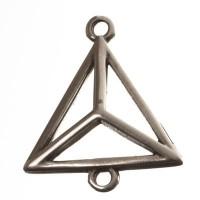 Metallanhänger Dreieck, 20 x 17 mm, versilbert