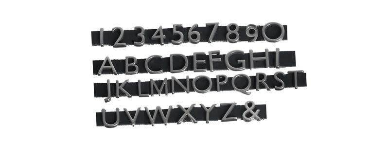 Schiebeperlen / Slider Buchstaben & Zahlen