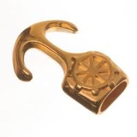 """Hakenverschluss """"Anker"""" für Bänder bis 5 mm, 30 x 20 mm, vergoldet"""