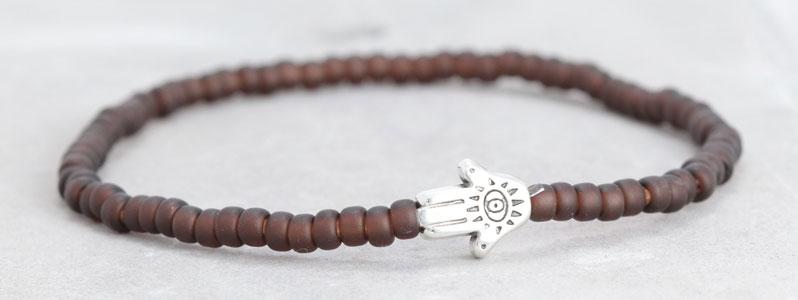 Miyuki-Armband Hamsa