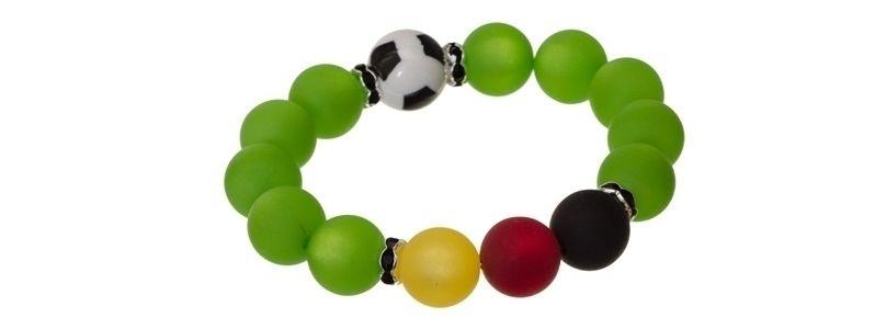 Armband mit Fußballperlen
