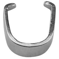 Edelstahl Collierschlaufe/Anhängerhalter, silberfarben, 5,5 x 5,5 x 2 mm, Pin: 1 mm