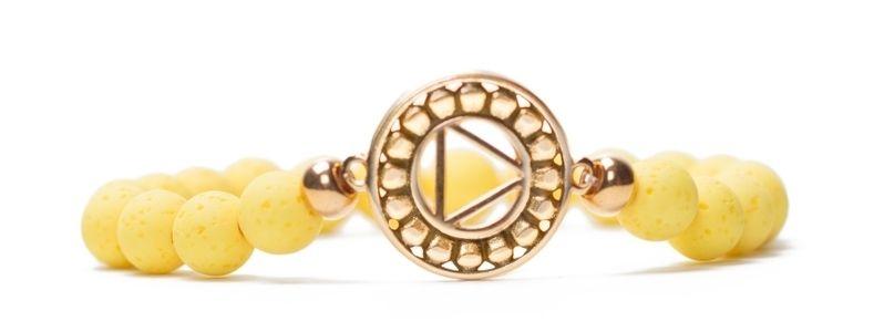 Armband Solarplexuschakra vergoldet gelb