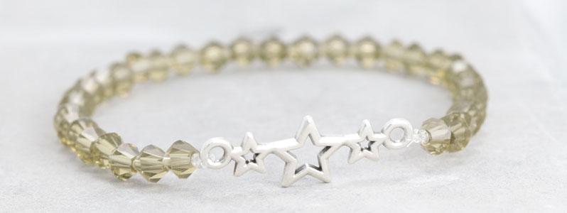 Facettperlen-Armband Stern