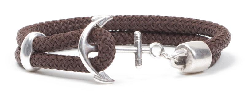 Segelseil-Ankerarmband Dunkelbraun